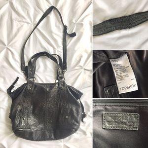 Topshop Bags - Genuine Leather Top Shop UK Black Handbag ❤️